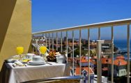 the view from a bedroom balcony at the Sana Estoril Hotel