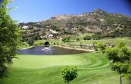 mountains provide a backdrop to marbella golf course