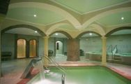 the indoor swimming pool and wellness centre at the Gran Hotel Benahavis Spa