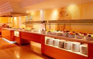 the restaurant buffet at the son caliu hotel - mallorca