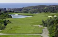 View Finca Cortesin Golf Club's lovely golf course within dramatic Costa Del Sol.