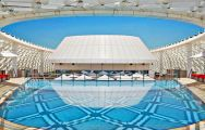 The Yas Viceroy Abu Dhabi's impressive main pool situated in fantastic Abu Dhabi.