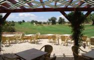 a view of the silves golf course from the clubhouse terrace