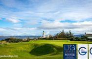 The Fortrose & Rosemarkie Golf Club's impressive golf course situated in vibrant Scotland.