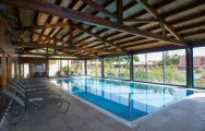 The Vila Sol Golf Resort Hotel's beautiful indoor pool within pleasing Algarve.