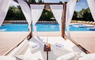 View Barcelo Montecastillo Resort's impressive sunbeds by the pool in impressive Costa de la Luz.