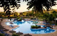 The Hotel Bonalba Alicante's scenic main pool within dazzling Costa Blanca.