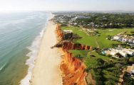 ariel view of the 16th hole at vale do lobo royal golf course