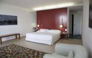 View Double Tree By Hilton Hotel Emporda  Spa's impressive double bedroom in impressive Costa Brava.
