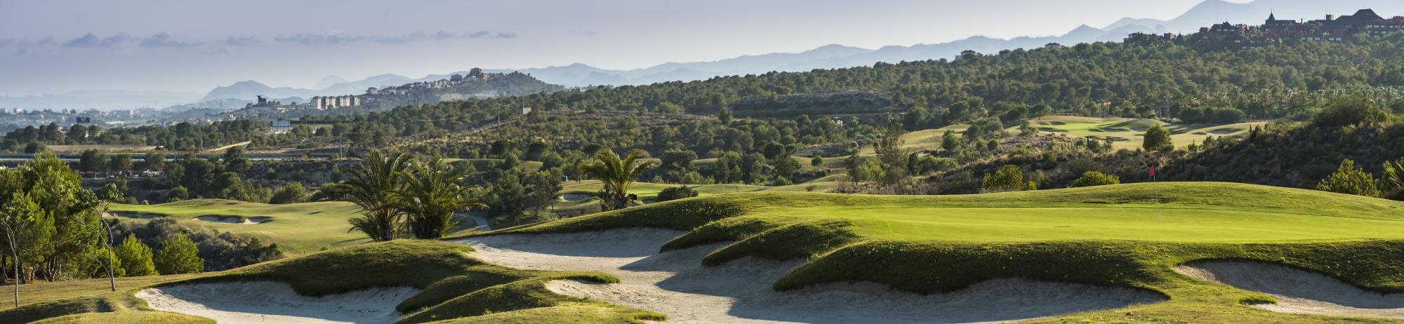 Villaitana Poniente Golf Course includes some of the finest golf course within Costa Blanca