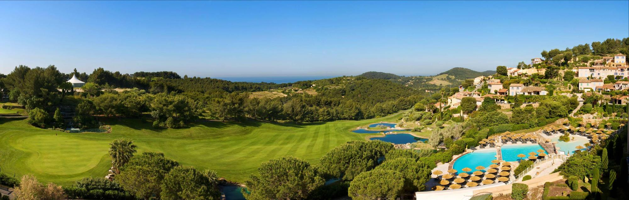 All The Golf Dolce Fregate Provence's scenic golf course in spectacular South of France.