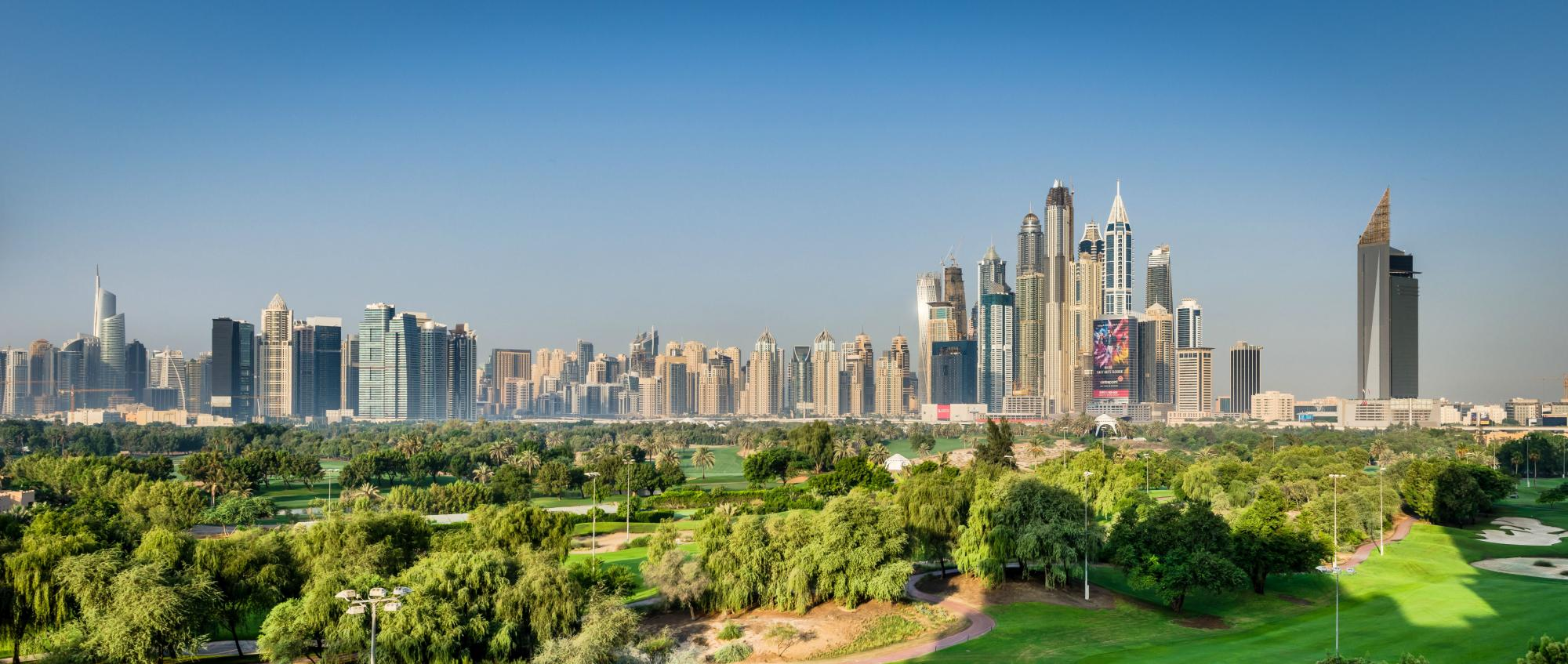 All The Emirates Golf Club's beautiful golf course within staggering Dubai.