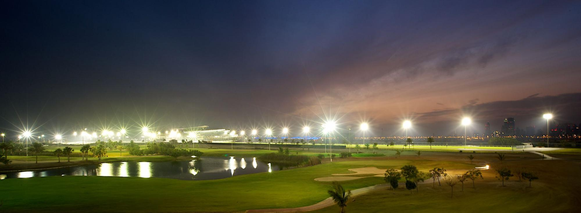The The Track, Meydan Golf's lovely golf course within dramatic Dubai.