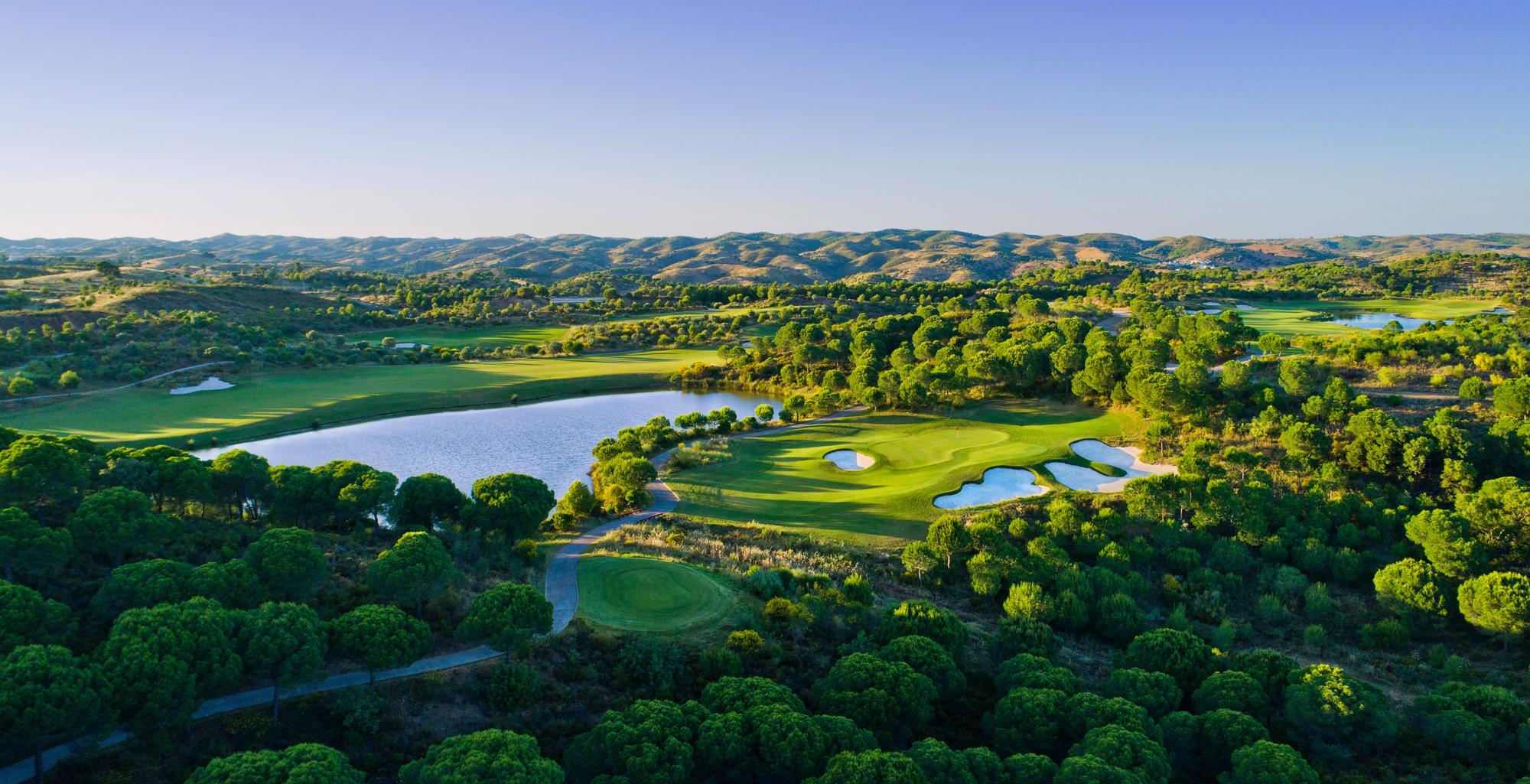 The Monte Rei Golf  Country Club's picturesque golf course in stunning Algarve.