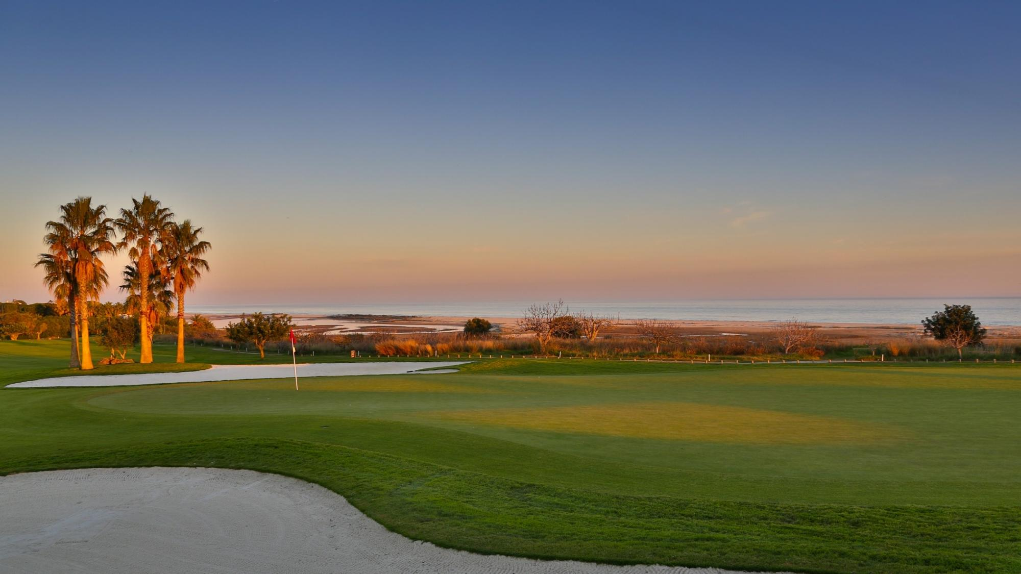 The Quinta da Ria Golf Course's scenic golf course in vibrant Algarve.