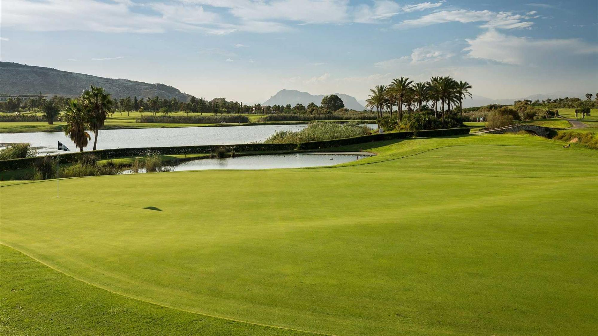 The Las Ramblas Golf Course's beautiful golf course in striking Costa Blanca.