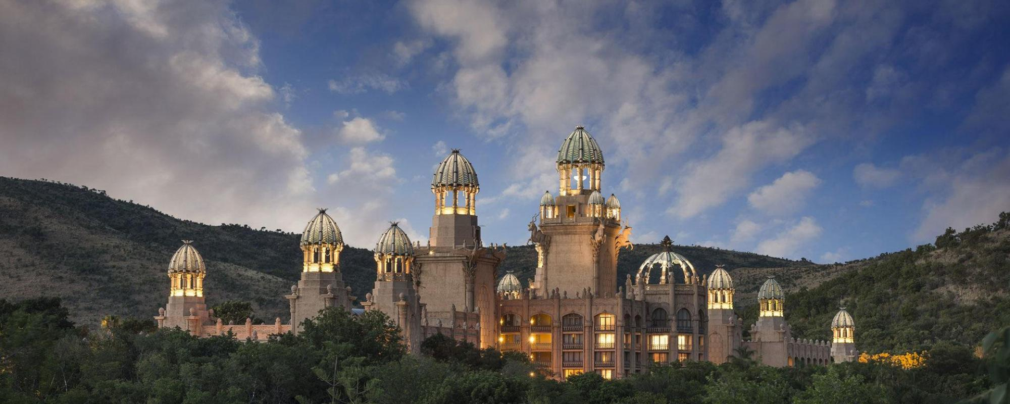 The The Palace of the Lost City's picturesque hotel in spectacular South Africa.