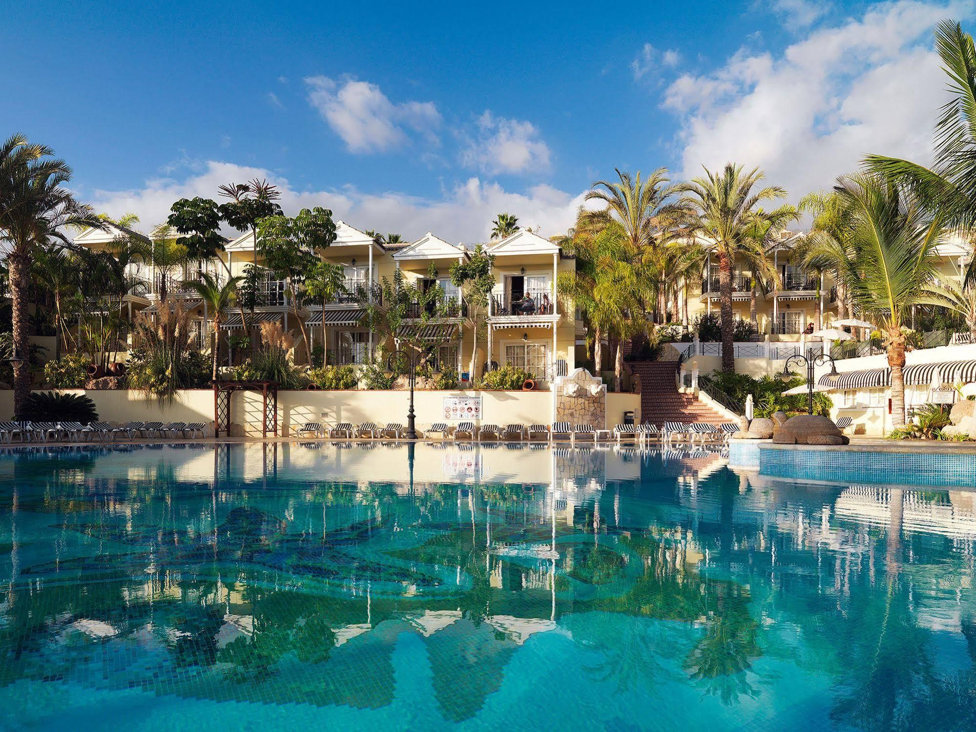 View Gran Oasis Resort's beautiful main pool in dramatic Tenerife.