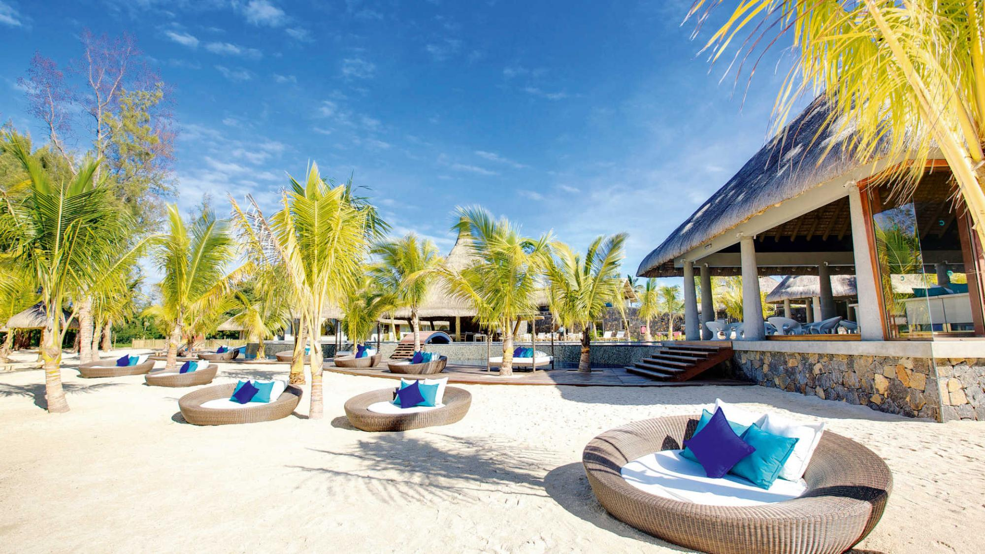 The Heritage Awali Golf  Spa Resort's lovely beach situated in staggering Mauritius.