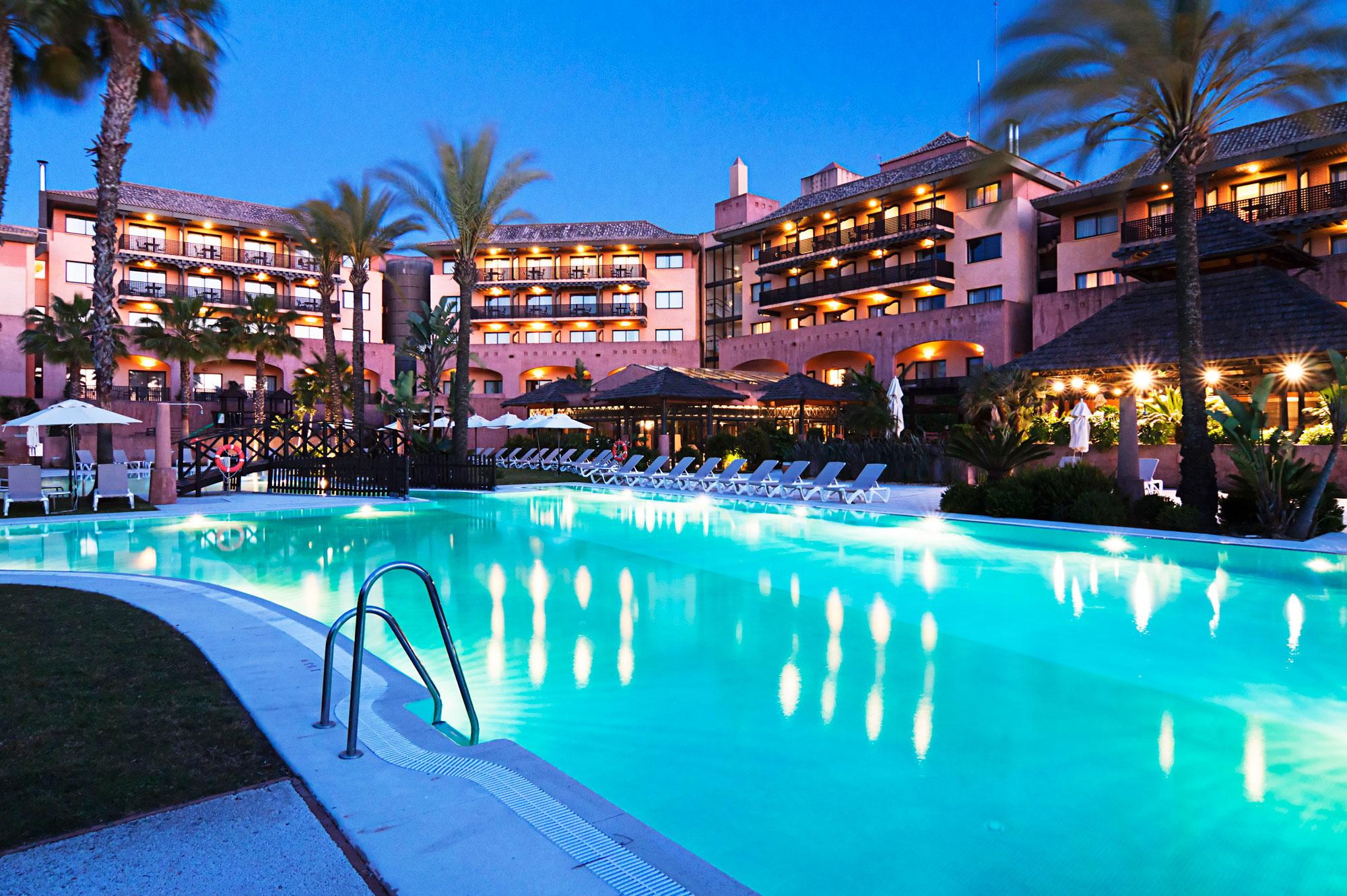 View Islantilla Golf Resort Hotel's impressive main pool situated in incredible Costa de la Luz.