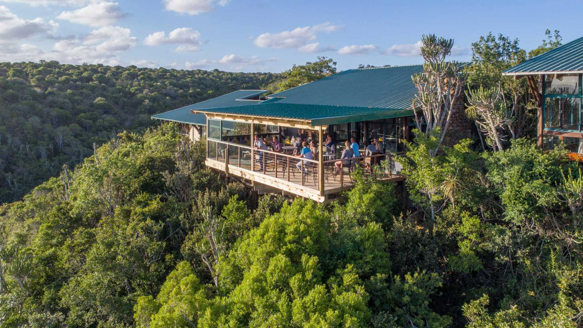 View Kariega Game Reserve's impressive outdoor seating situated in incredible South Africa.
