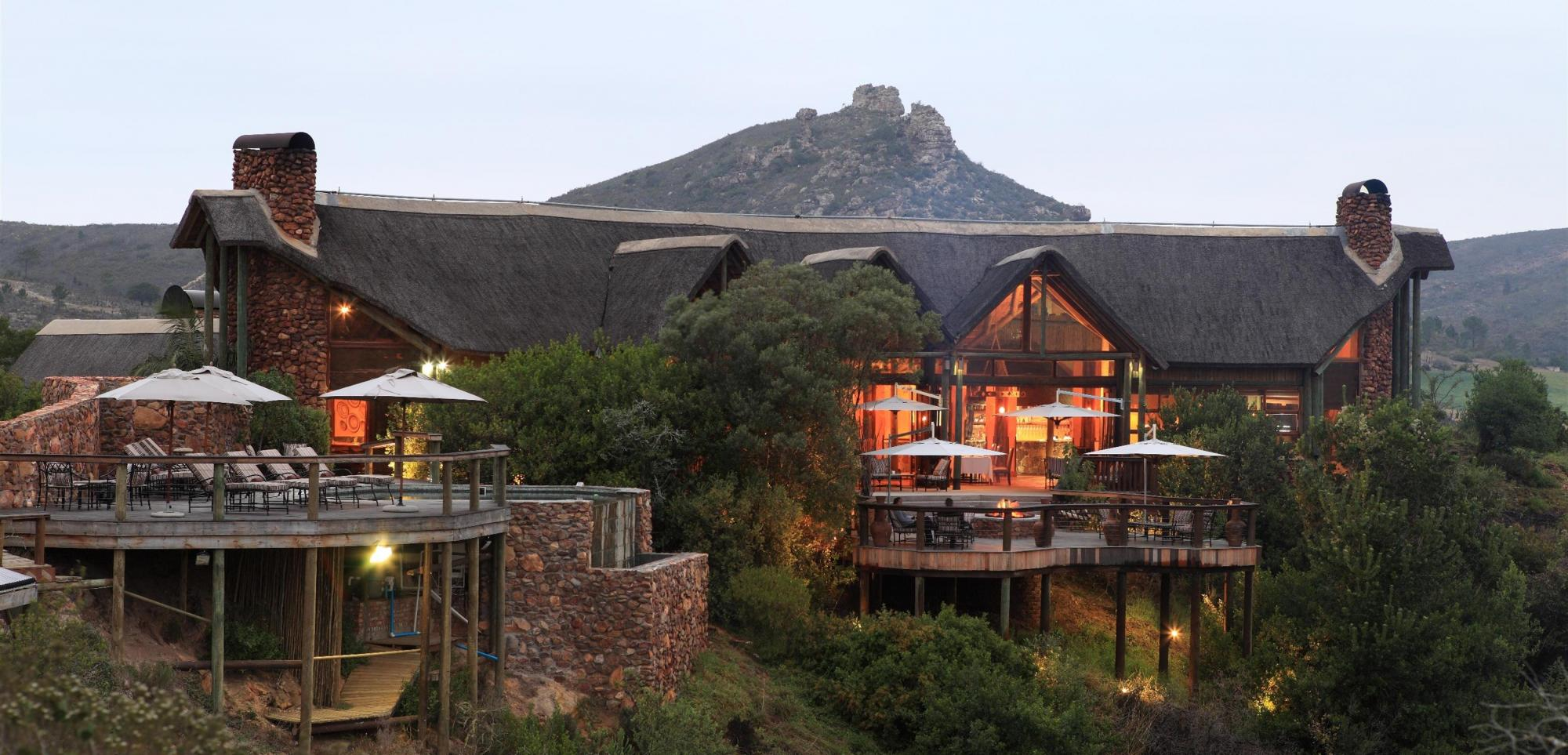 The Kwa Maritane Bush lodge's lovely lodge in magnificent South Africa.