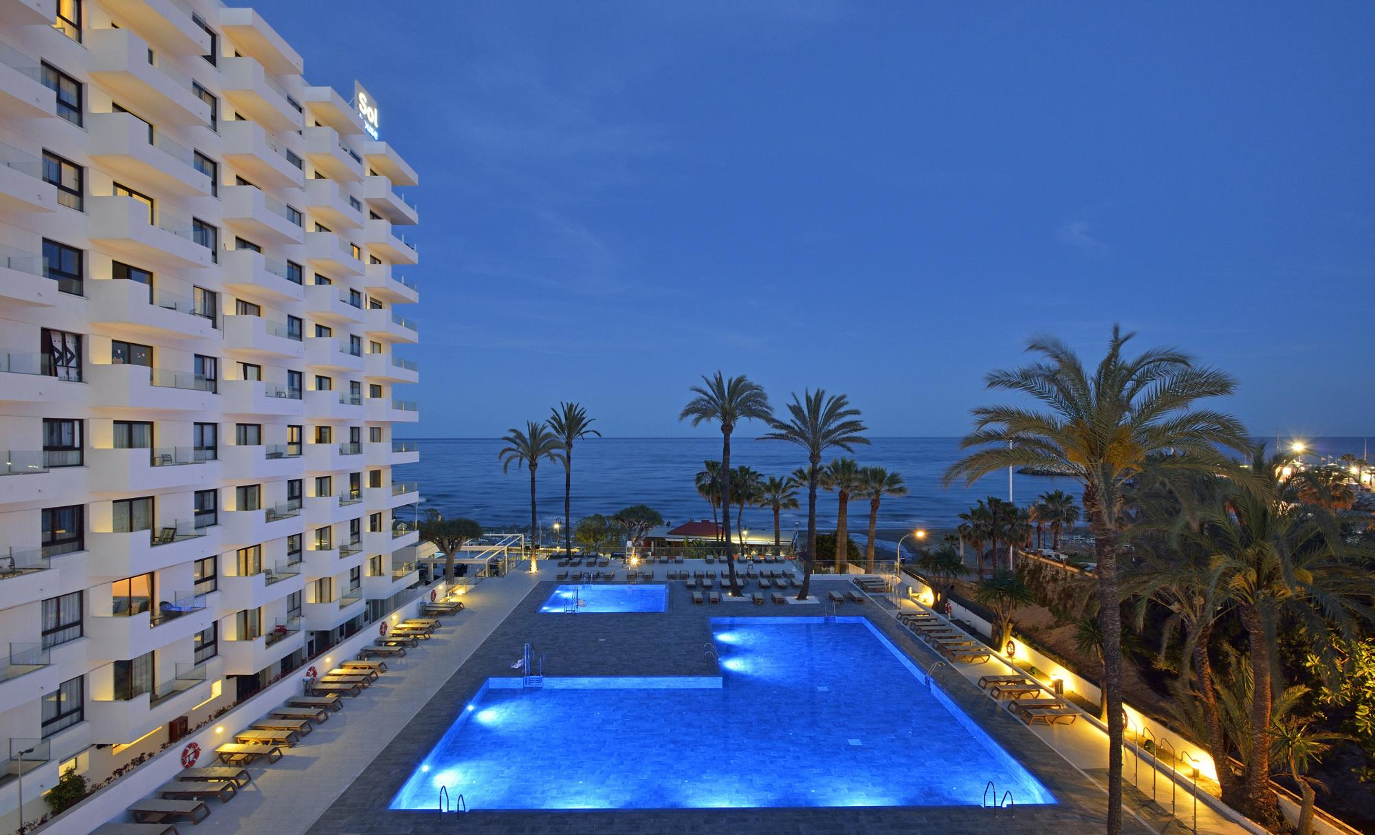 View Sol House Aloha Hotel's scenic main pool in sensational Costa Del Sol.
