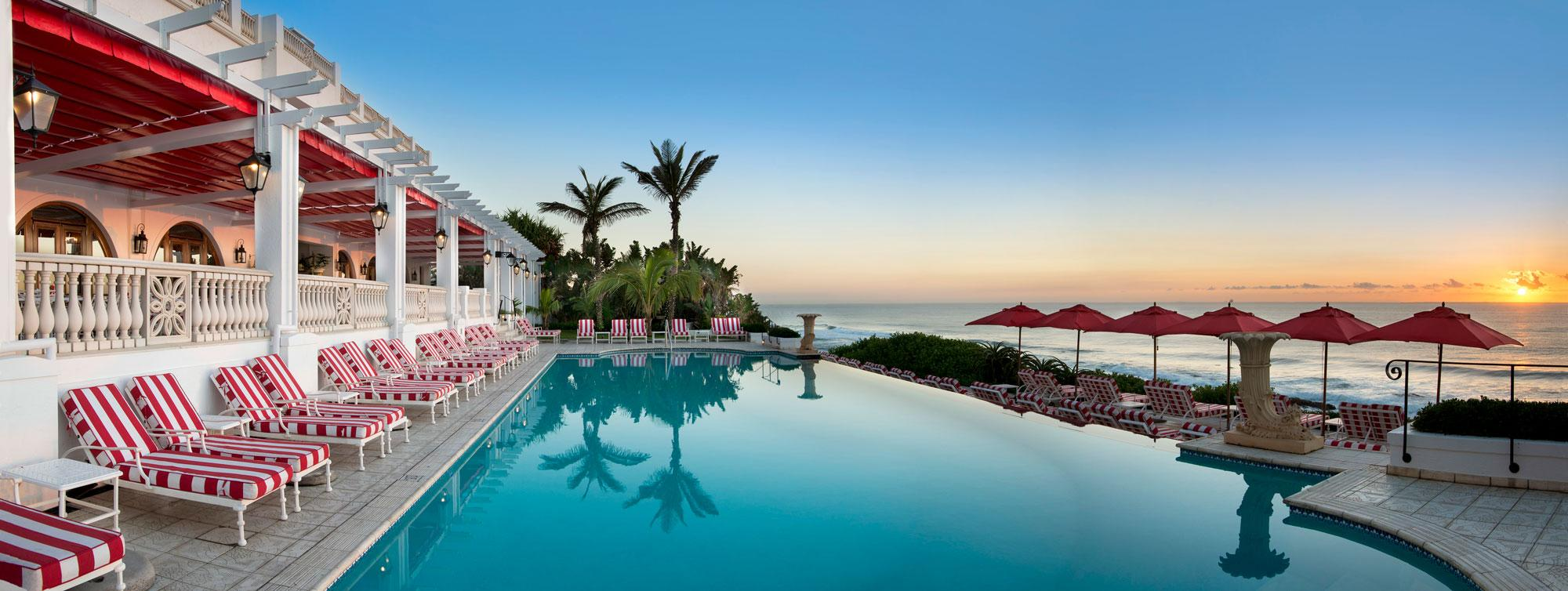 The Oyster Box Hotel's impressive main pool within impressive South Africa.