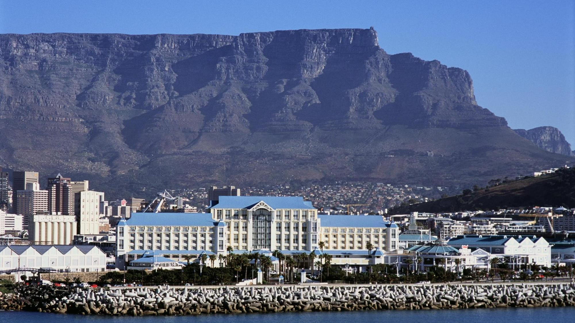 The Table Bay Hotel's scenic view of the Table Mountain in sensational South Africa.