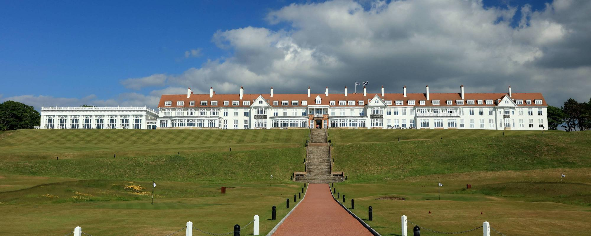 View Trump Turnberry's lovely hotel in marvelous Scotland.
