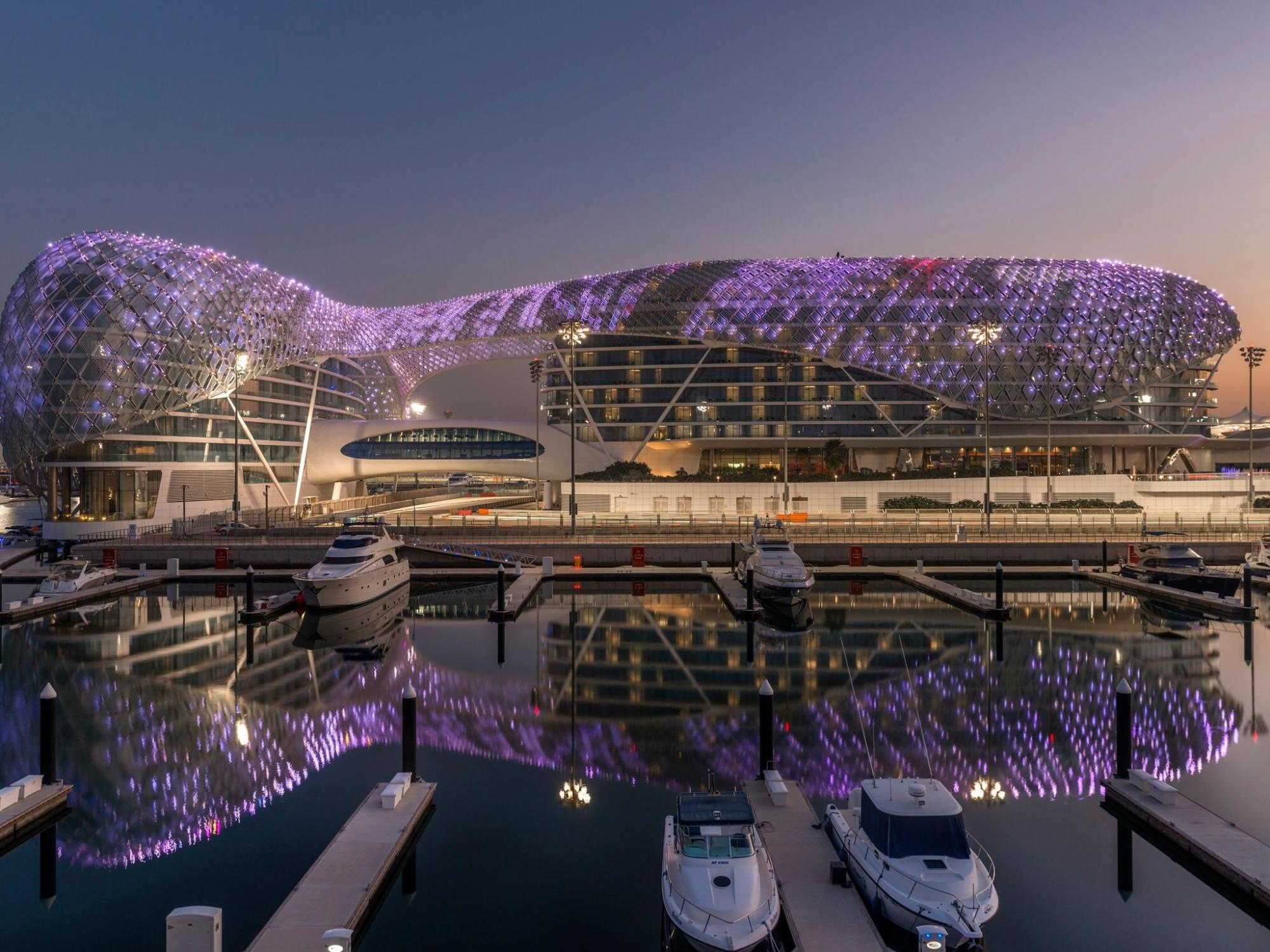 The Yas Viceroy Abu Dhabi's impressive marina situated in sensational Abu Dhabi.