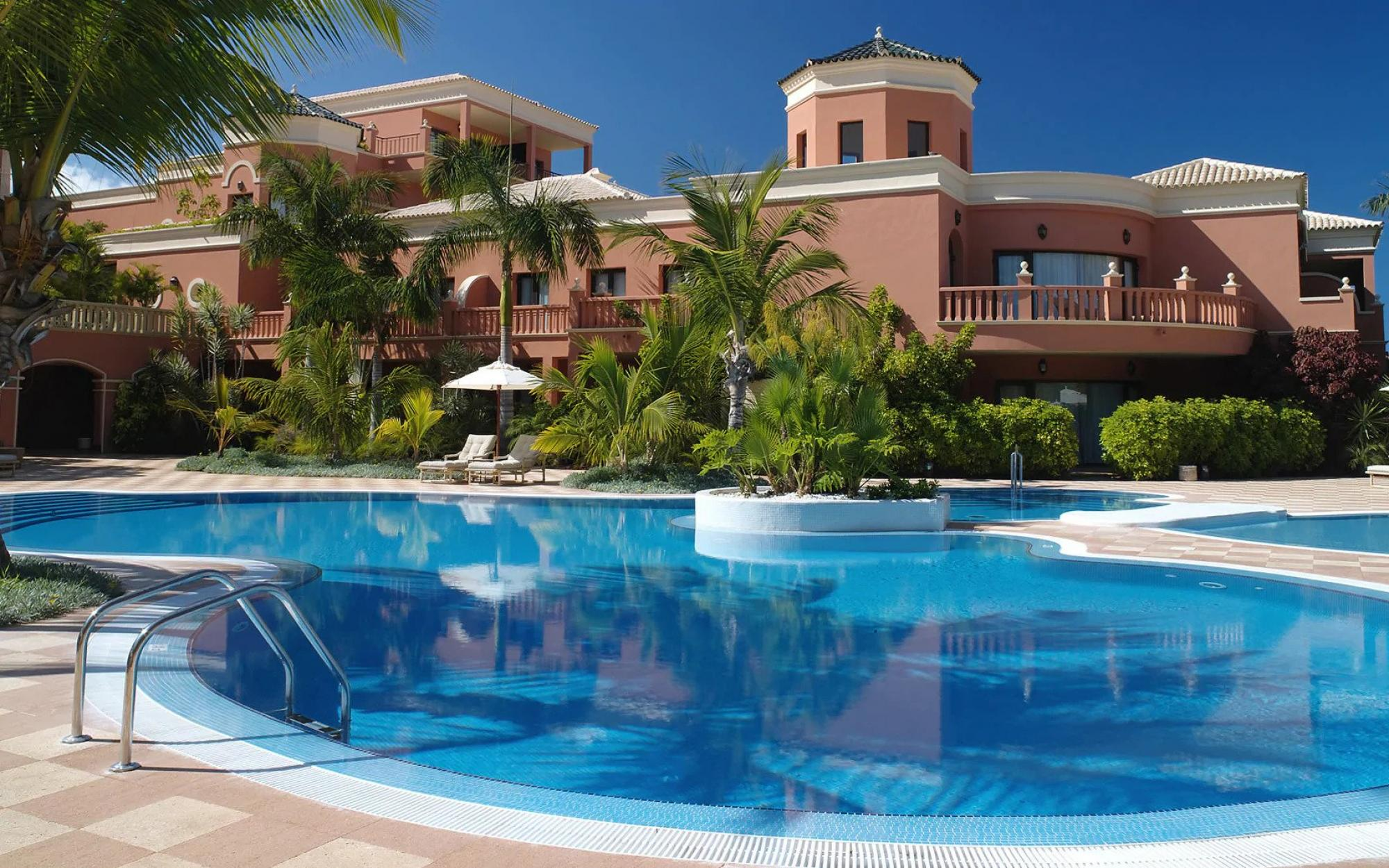 The Hotel Las Madrigueras's picturesque main pool in dazzling Tenerife.