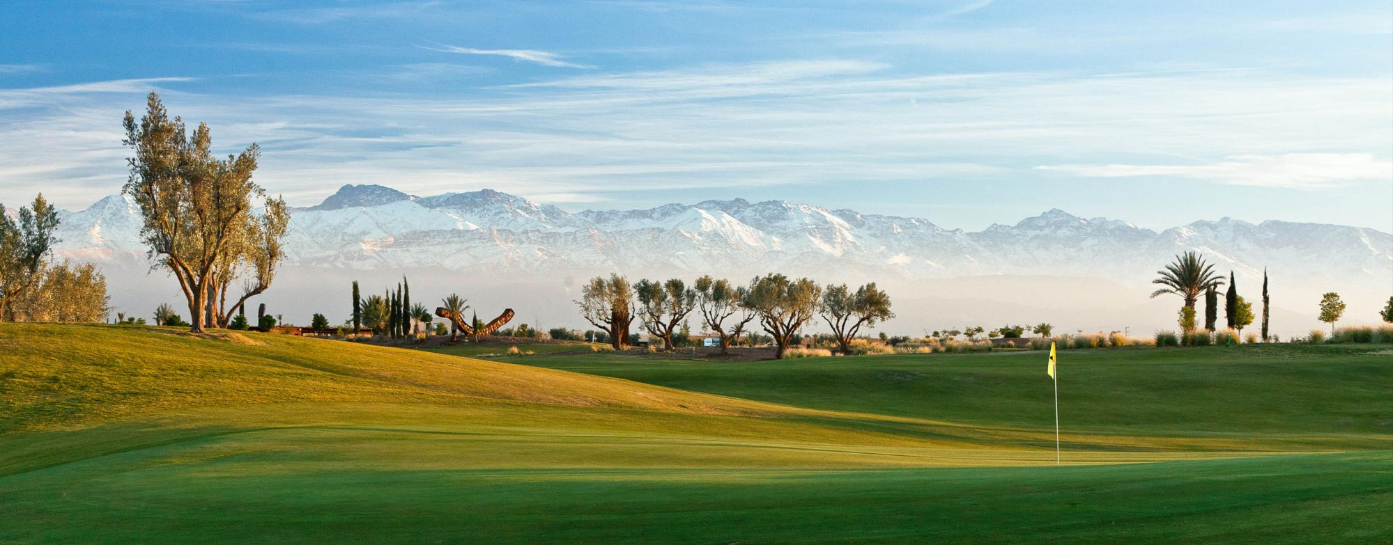 The Al Maaden Golf Course's scenic golf course within magnificent Morocco.