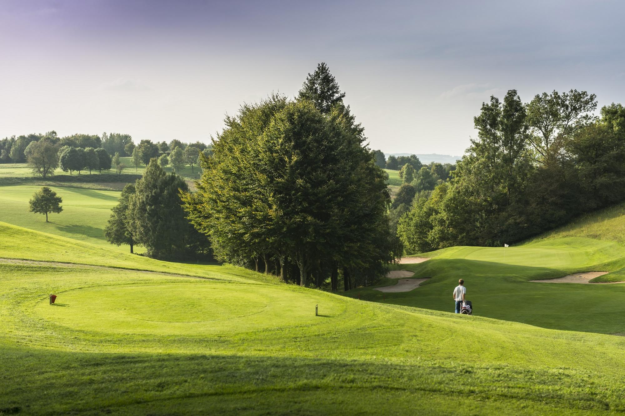 The St Wolfgang Golf Course Uttlau's scenic golf course in spectacular Germany.