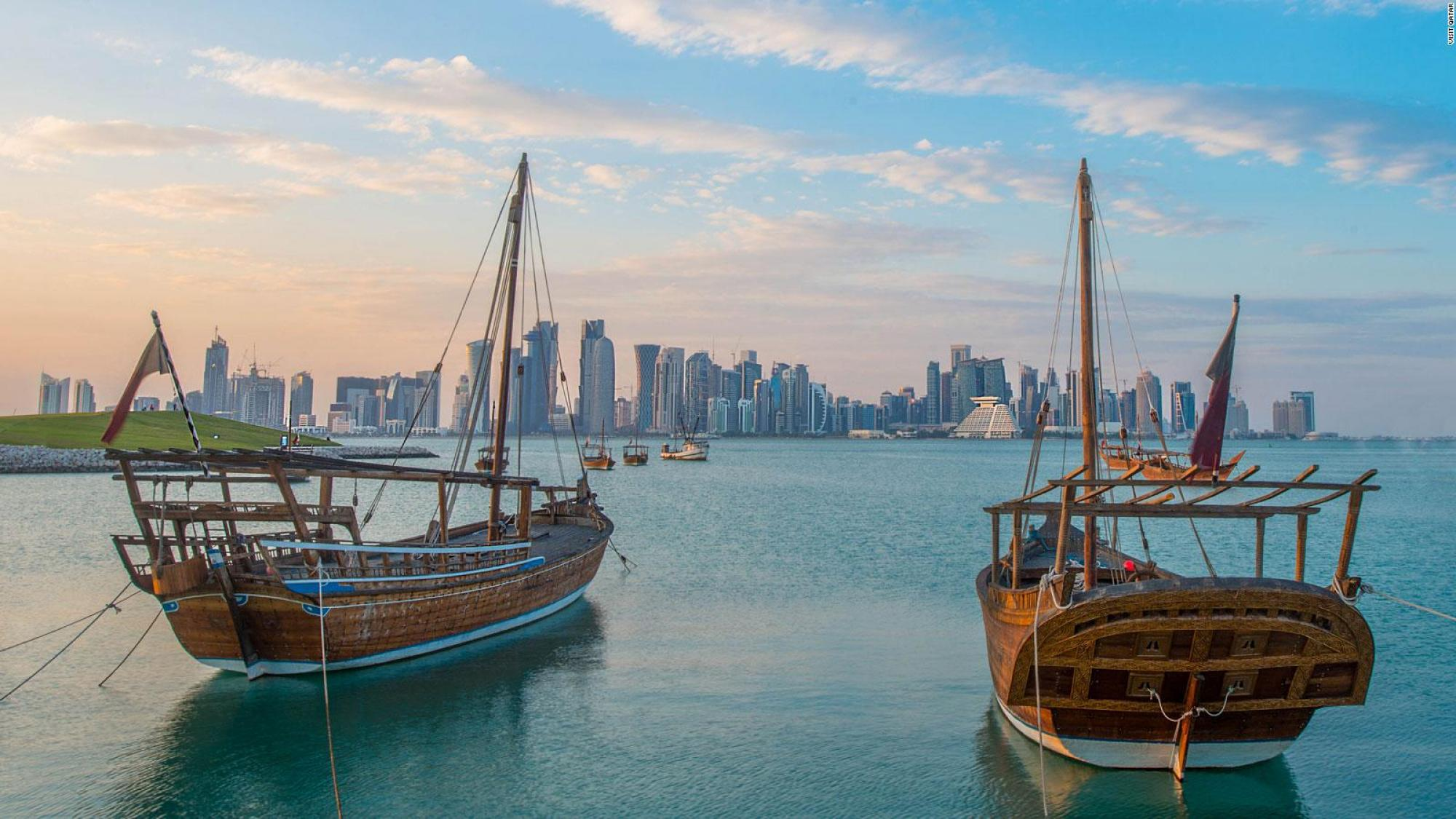 The beautiful city of Doha in Qatar