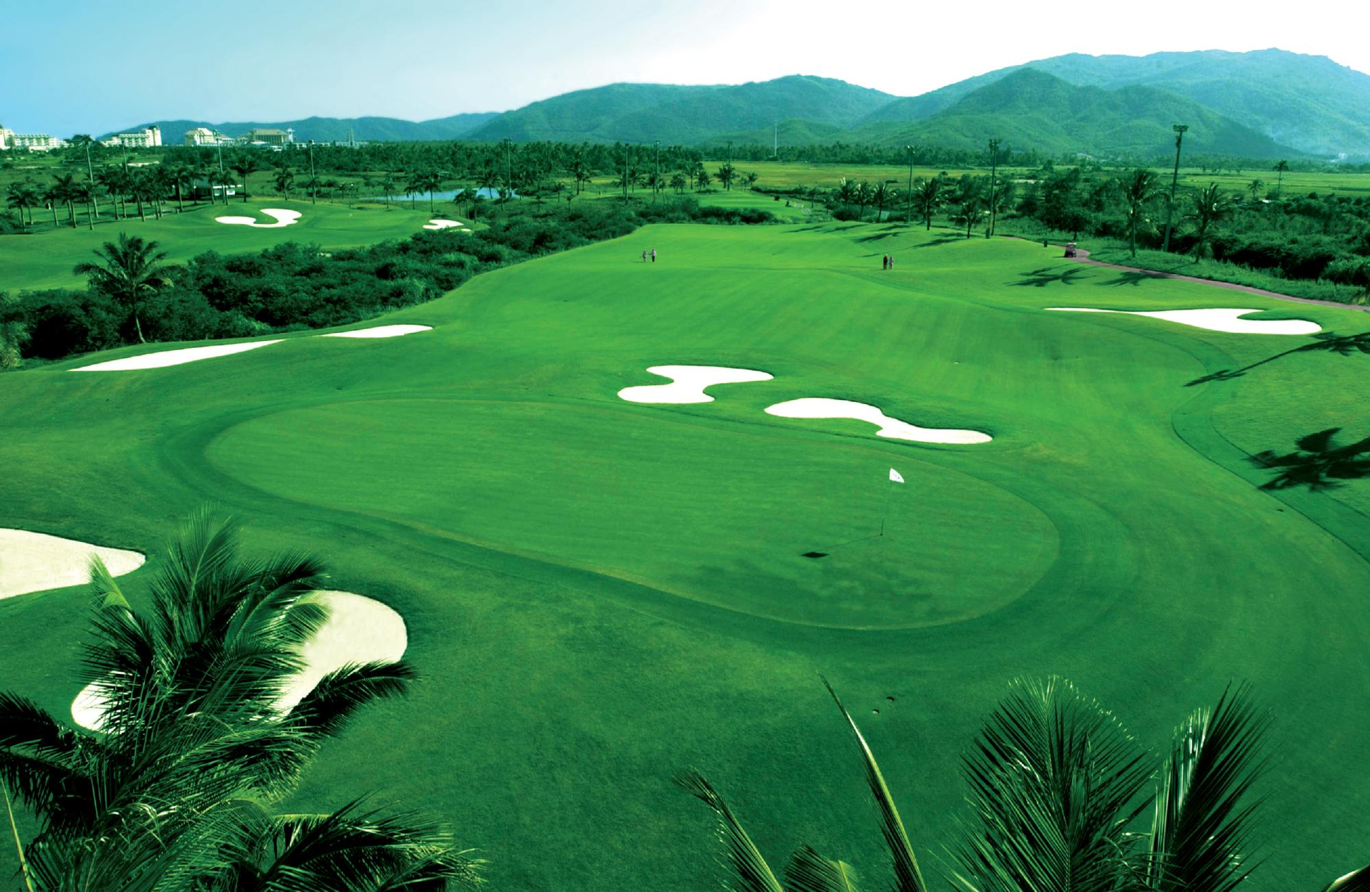 Yalong Bay Golf Club's impressive golf course in astounding China.