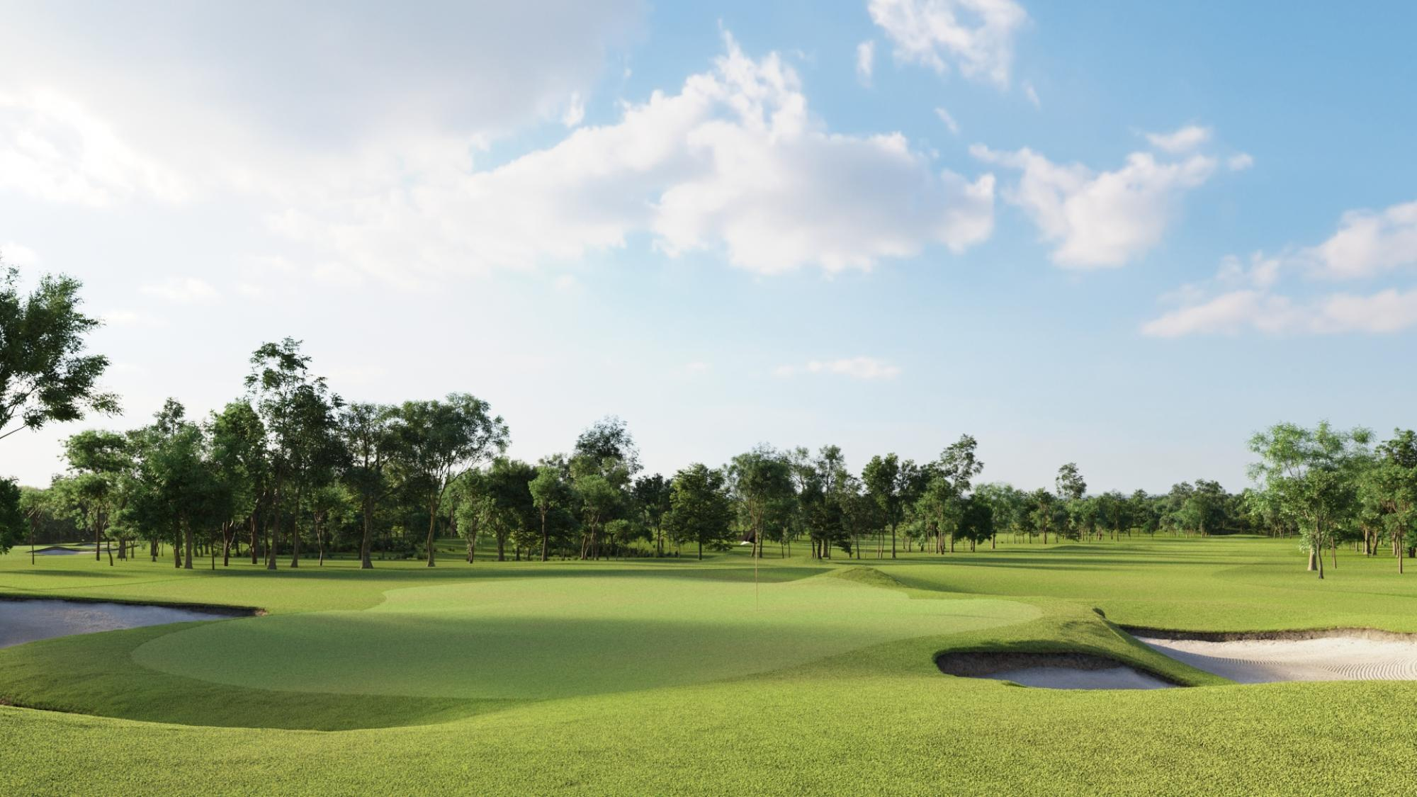 The Bangpra Golf Club's beautiful golf course within dazzling Pattaya.