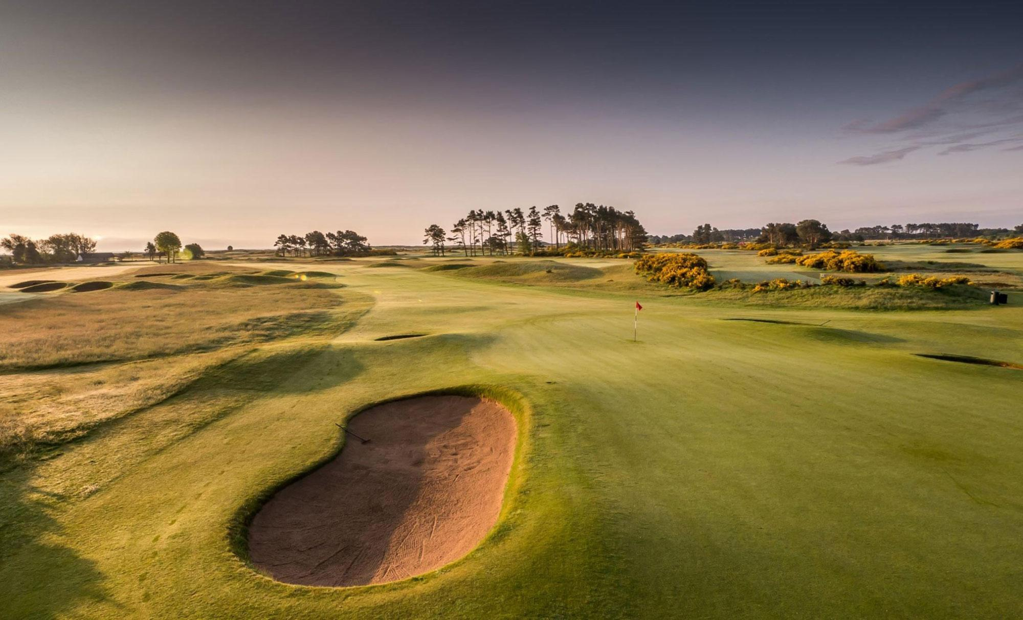 View Carnoustie Golf Links's picturesque golf course situated in incredible Scotland.