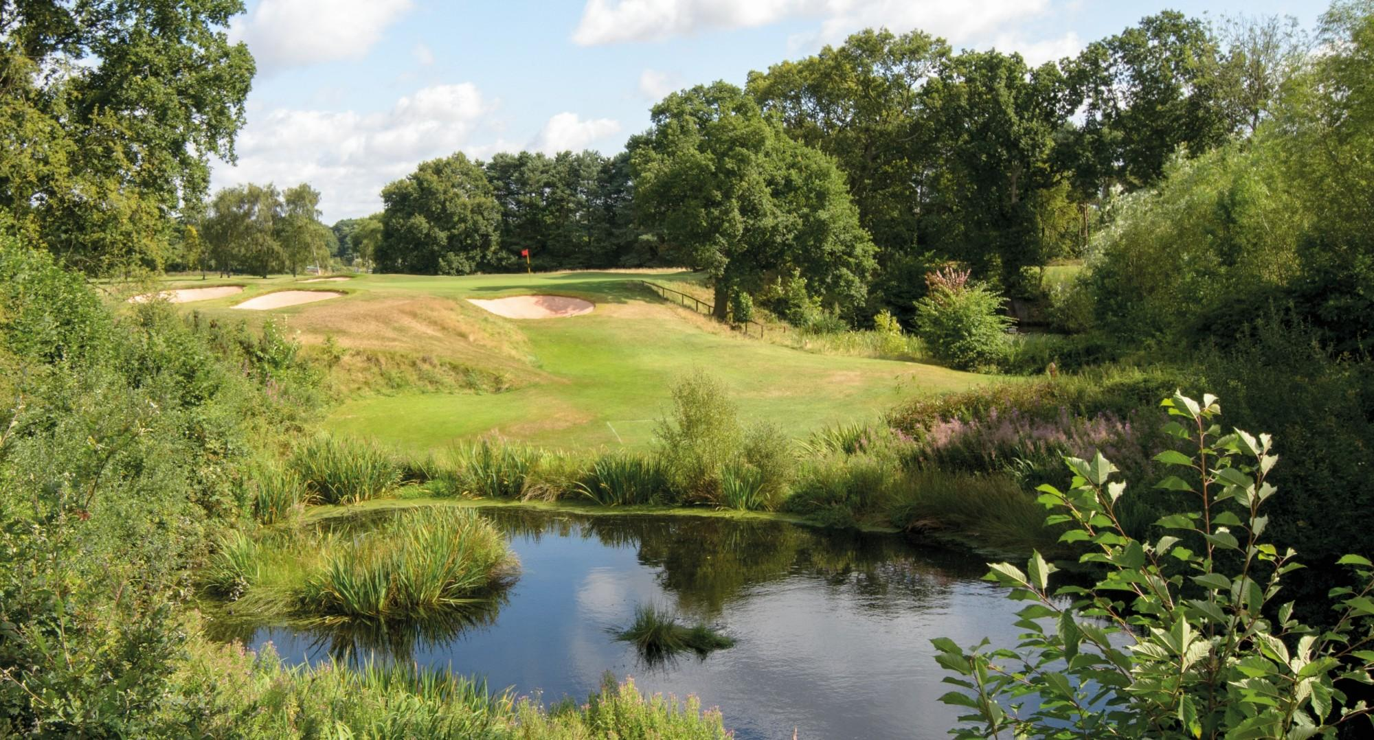 View Copt Heath Golf Club's lovely golf course in vibrant West Midlands.