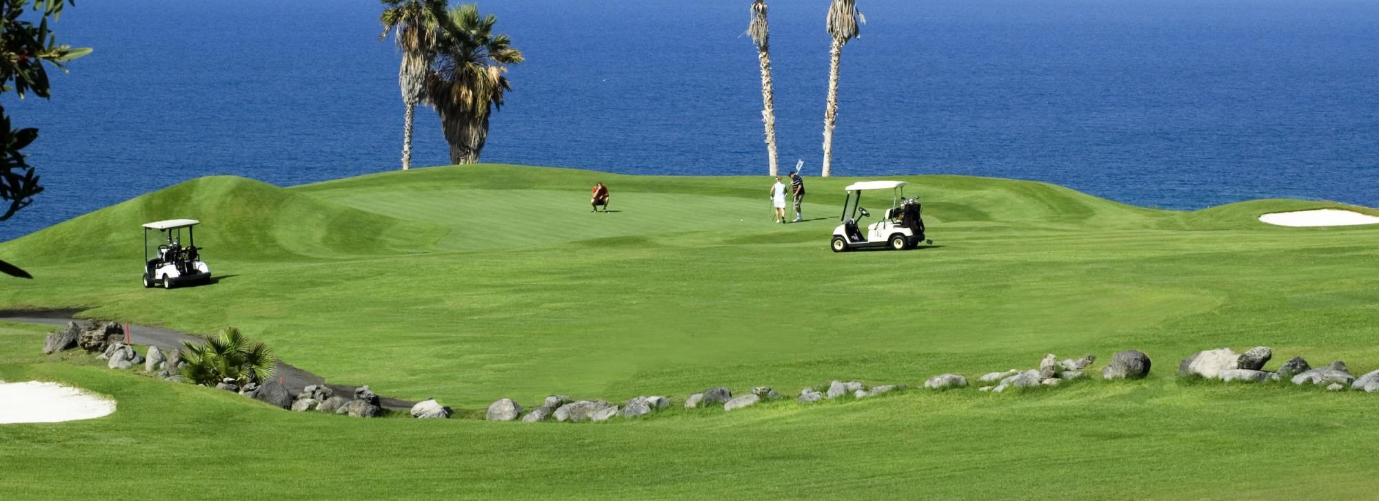 The Costa Adeje Golf Course's lovely golf course in marvelous Tenerife.