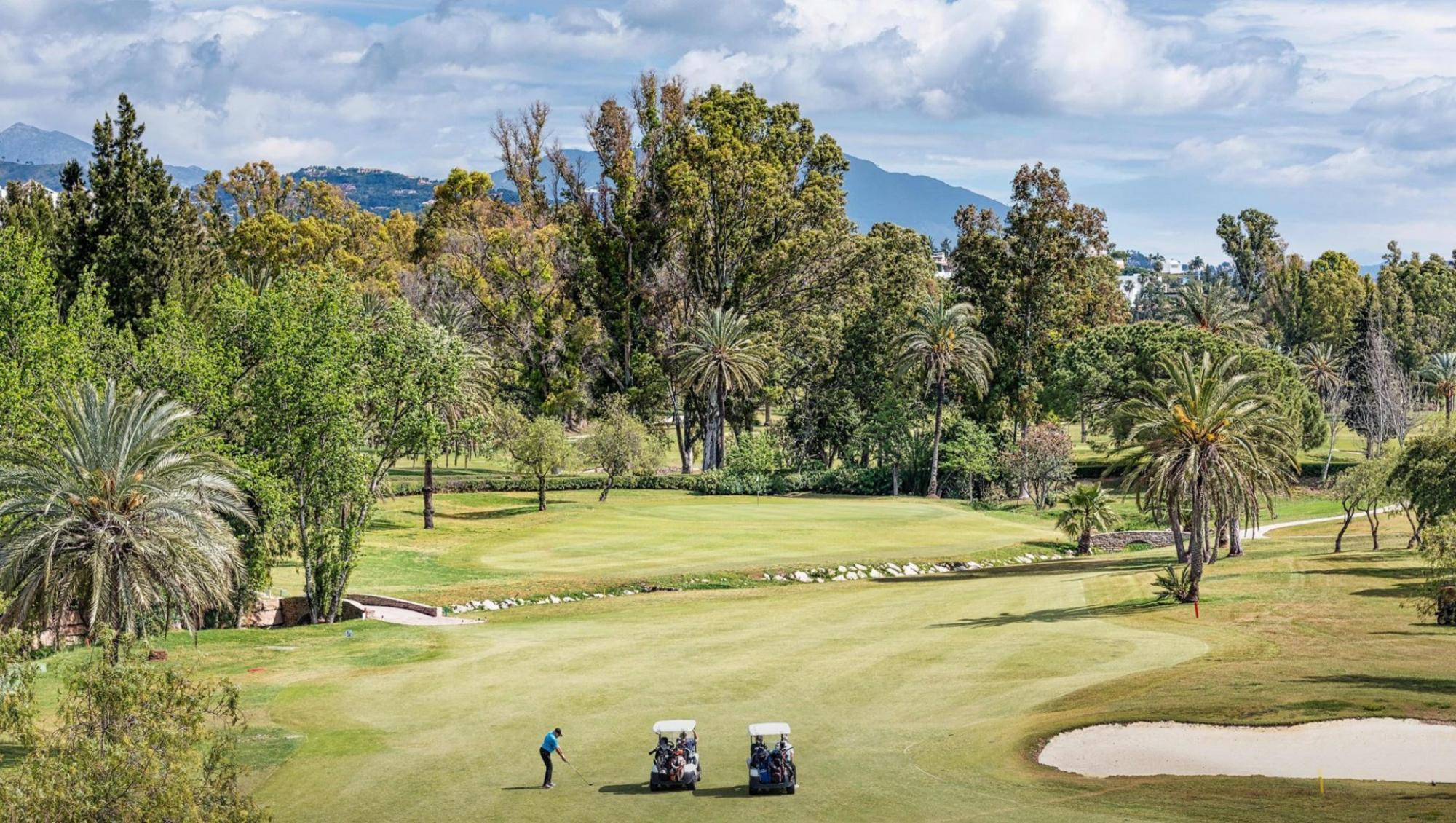 The El Paraiso Golf Club's impressive golf course in incredible Costa Del Sol.