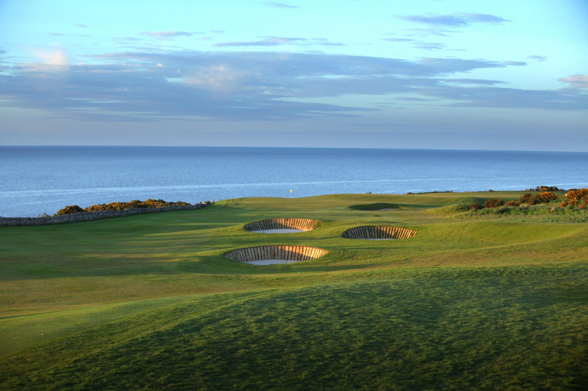 View Fairmont St Andrews Golf Course's beautiful golf course in dramatic Scotland.