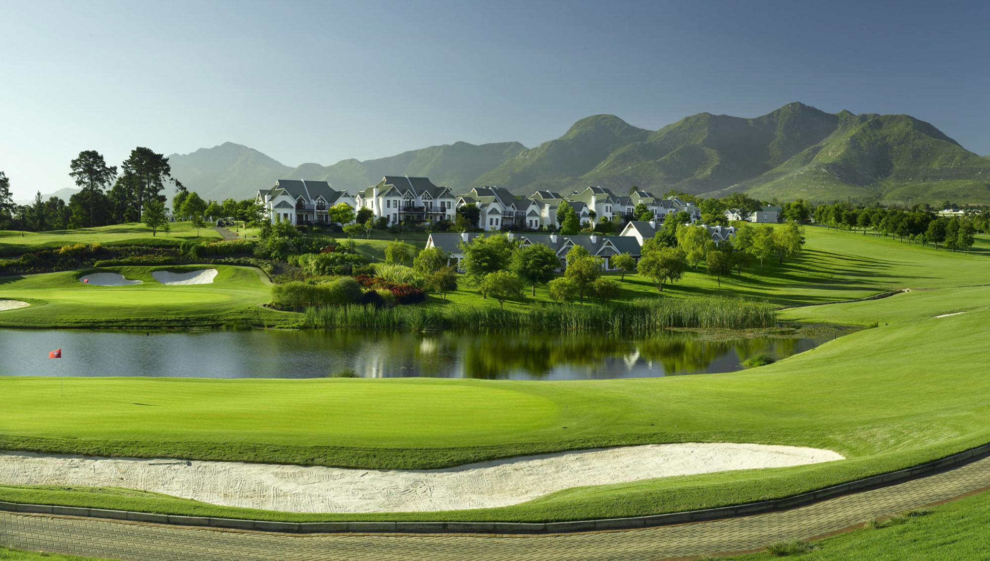 View Fancourt Links Course's beautiful golf course in dramatic South Africa.