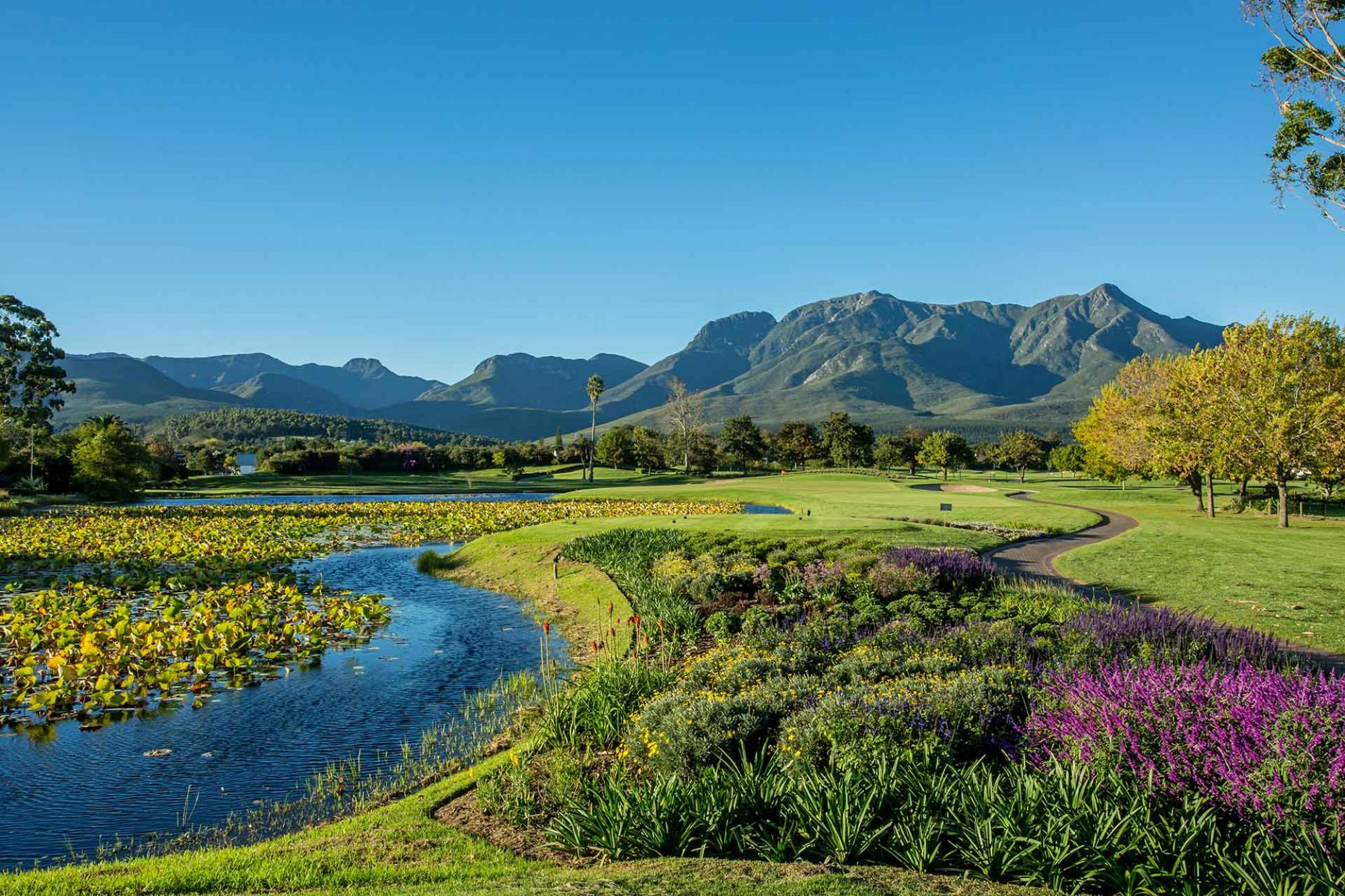 View Fancourt Outeniqua Course's picturesque golf course within amazing South Africa.