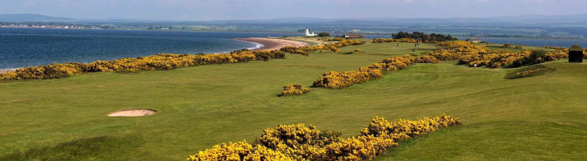 The Fortrose  Rosemarkie Golf Club's picturesque golf course situated in impressive Scotland.