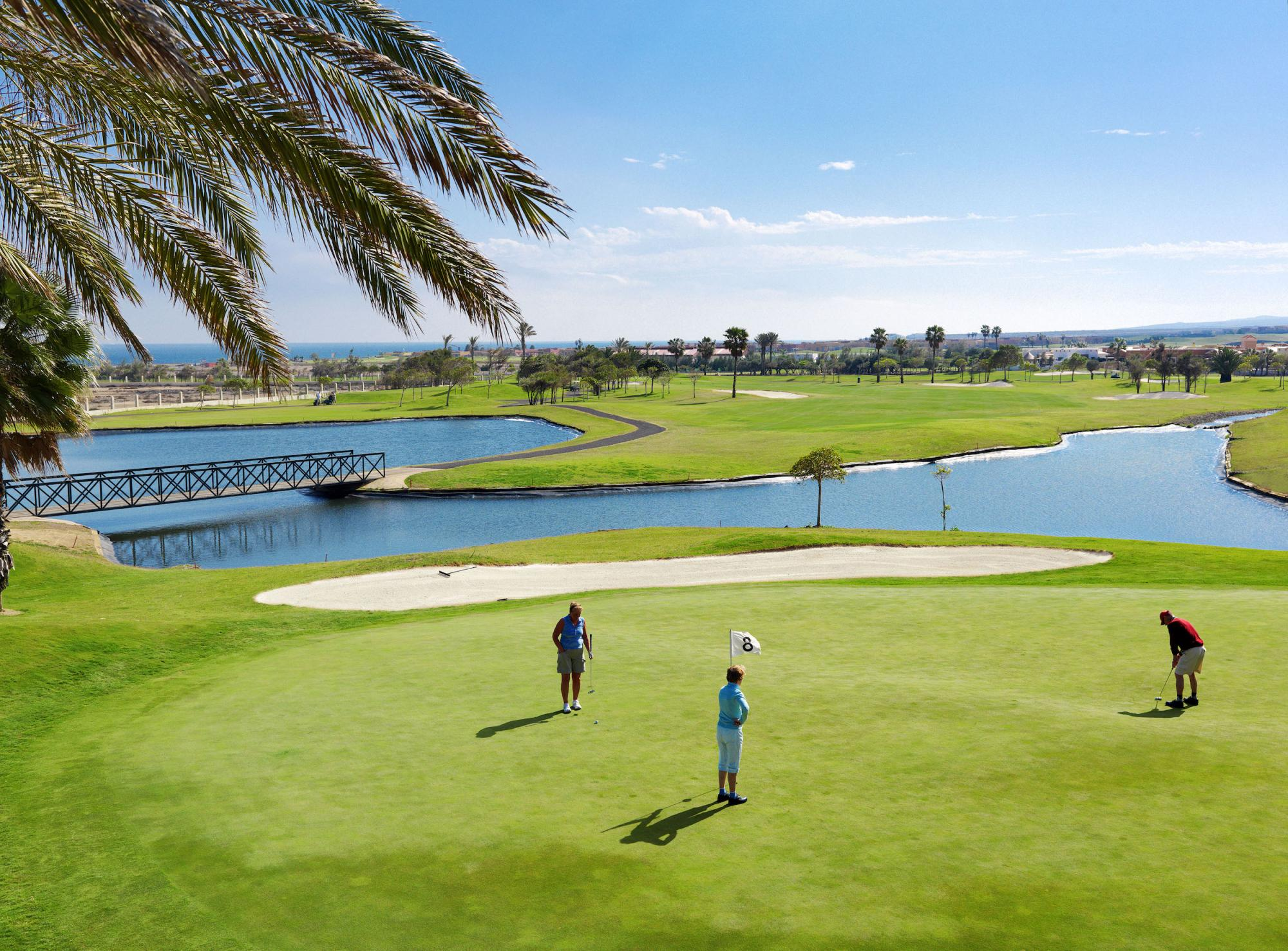 View Fuerteventura Golf Club's beautiful golf course in vibrant Fuerteventura.