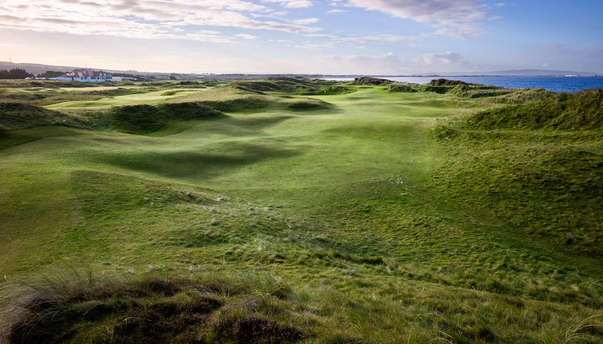 The Gailes Links's scenic gardens within magnificent Scotland.