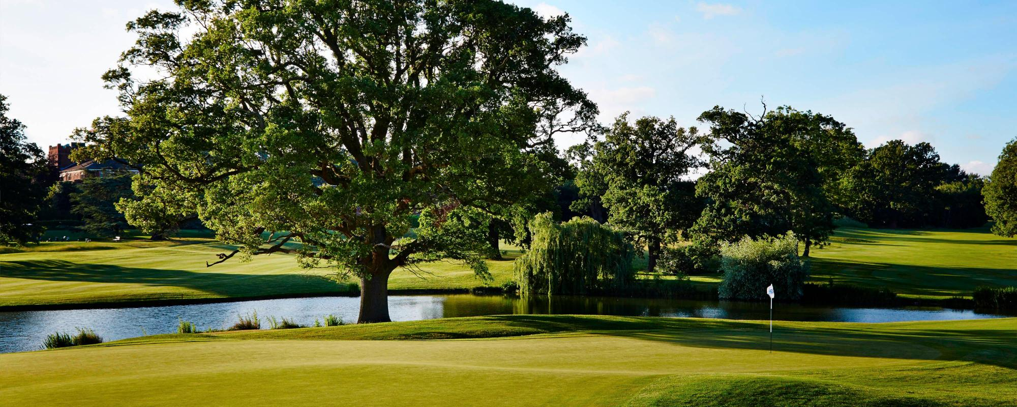 The Hanbury Manor Country Club's impressive golf course in brilliant Hertfordshire.