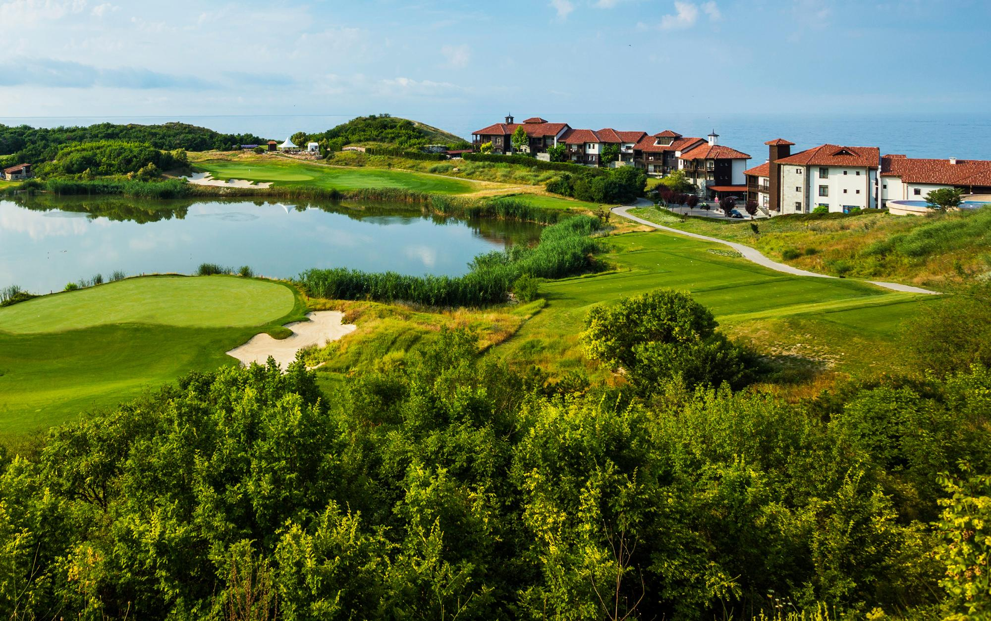 The Thracian Cliffs Golf  Beach Resort 's picturesque golf course in stunning Black Sea Coast.