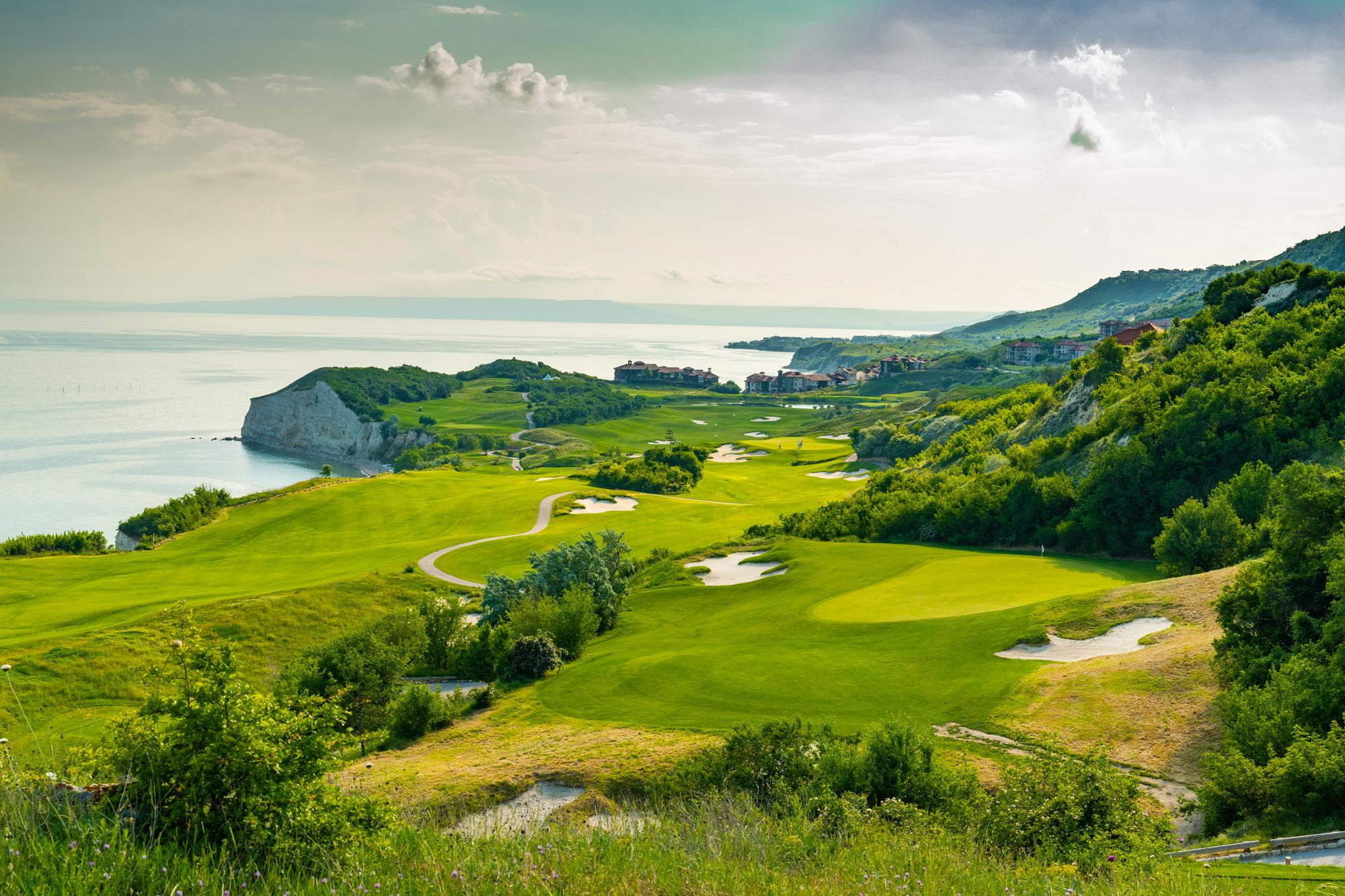 View Thracian Cliffs Golf Club's lovely golf course within dramatic Black Sea Coast.
